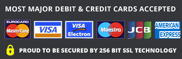 Lemon Fresh UK accepts most major debit and credit cards and are secured by 256 BIT SSL Technology for online safety and security.