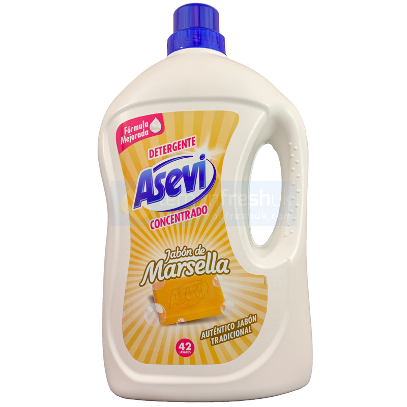 ASEVI Detergent wash gel JABON DE MARSELLA 42 washes 3 Litres