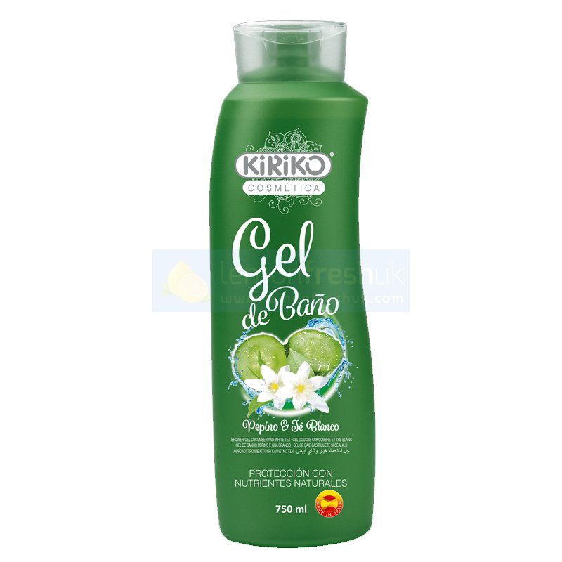KiRiKo Shower Gel - Cucumber and White Tea 750ml