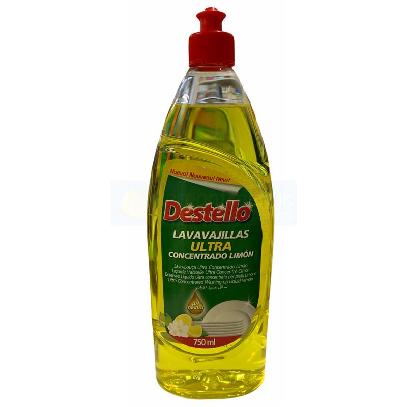 Destello Super Concentrated Washing Up Liquid 750ml - Lemon