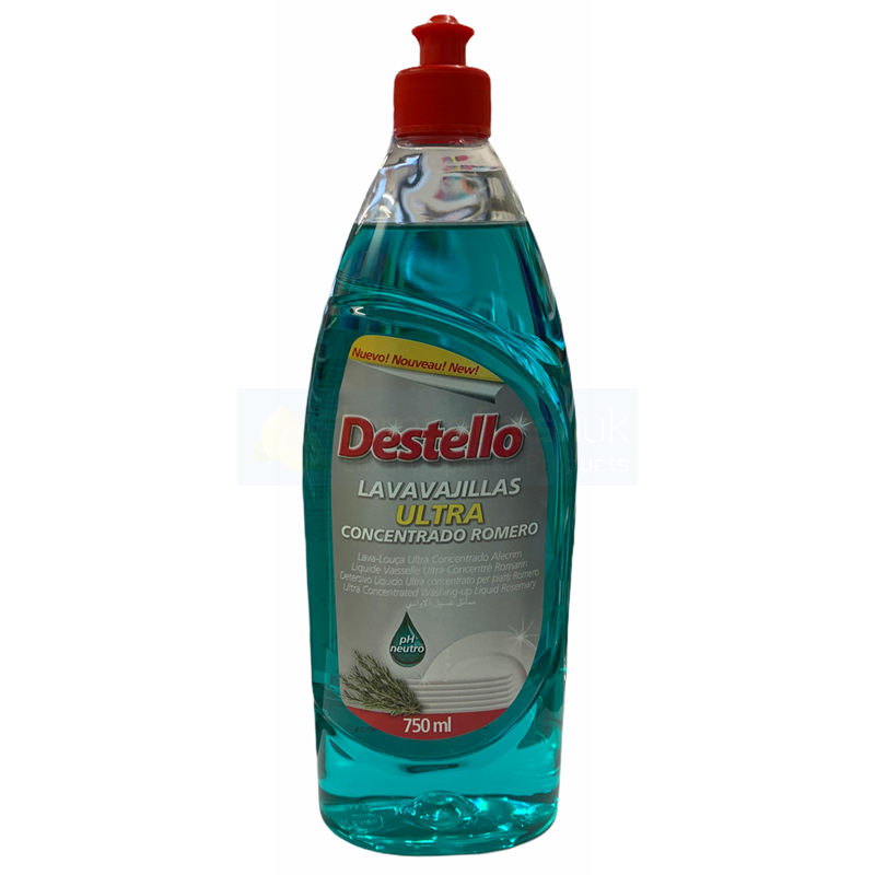 Destello Super Concentrated Washing Up Liquid 750ml - Rosemary
