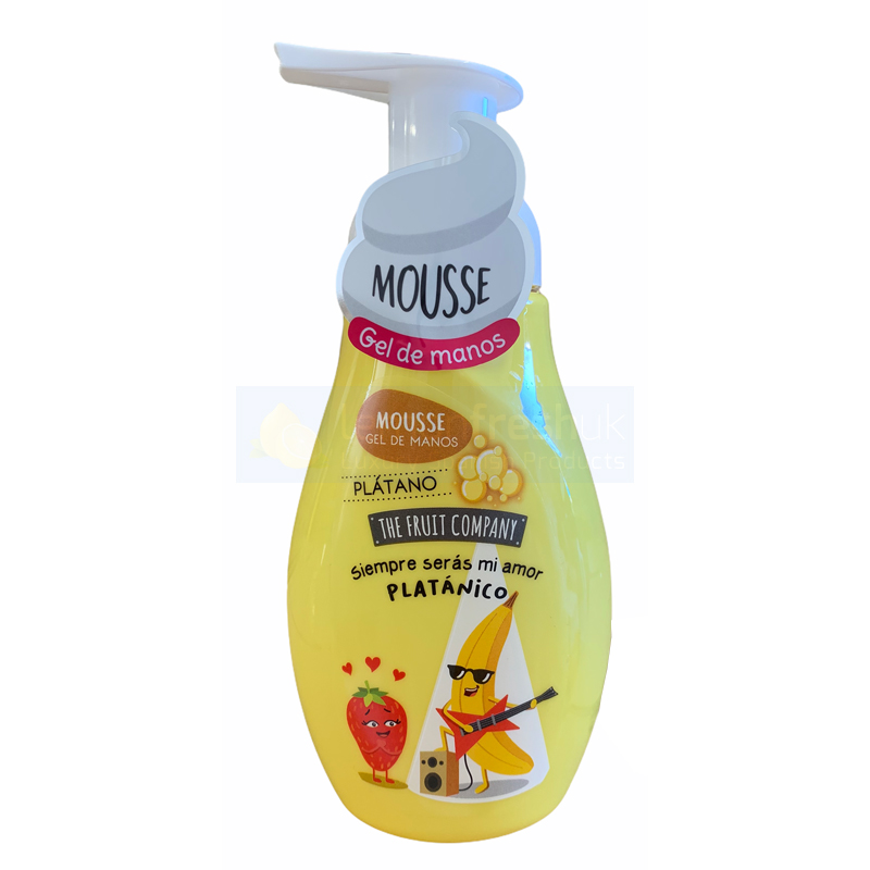 The Fruit Company Hand Soap Mousse with Pump Top 250ml - Banana