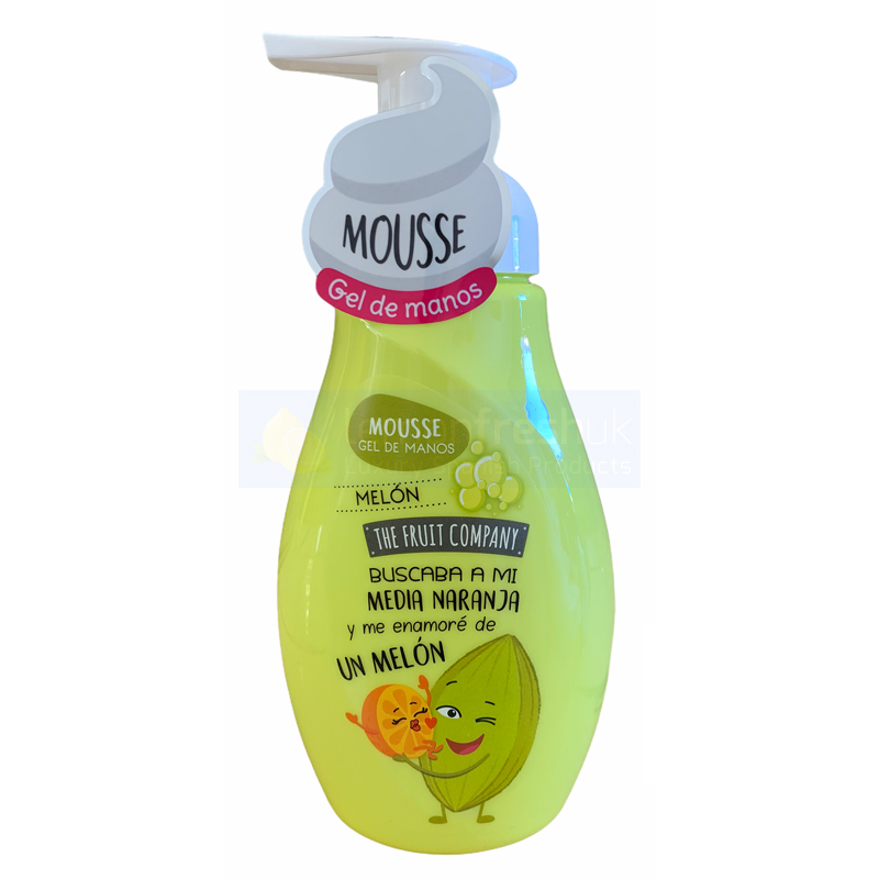 The Fruit Company Hand Soap Mousse with Pump Top 250ml - Melon