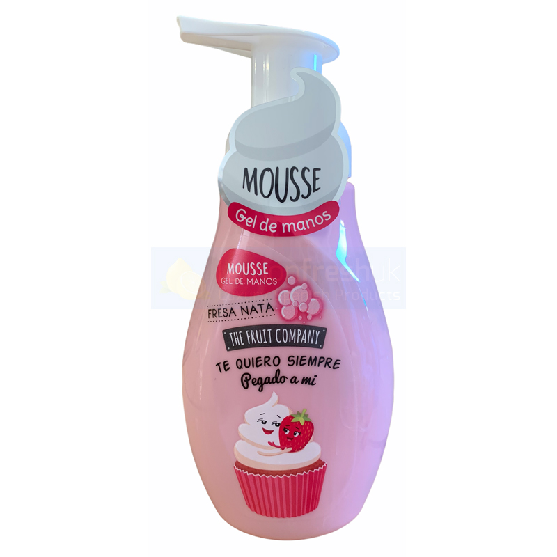 The Fruit Company Hand Soap Mousse with Pump Top 250ml - Strawberries & Cream