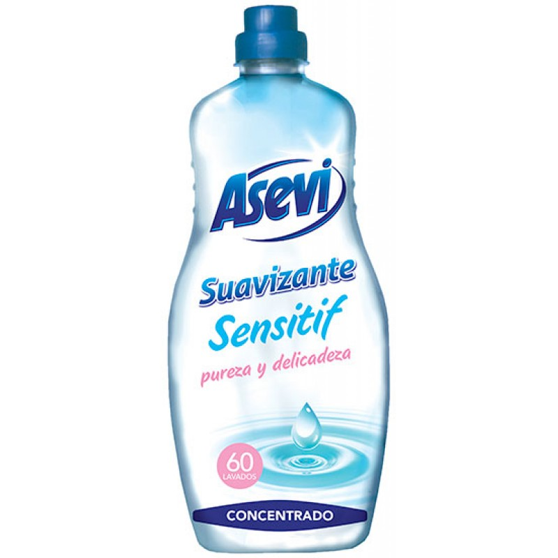 ASEVI Fabric Softener Sensitive Talco 60 washes 1.5 litres