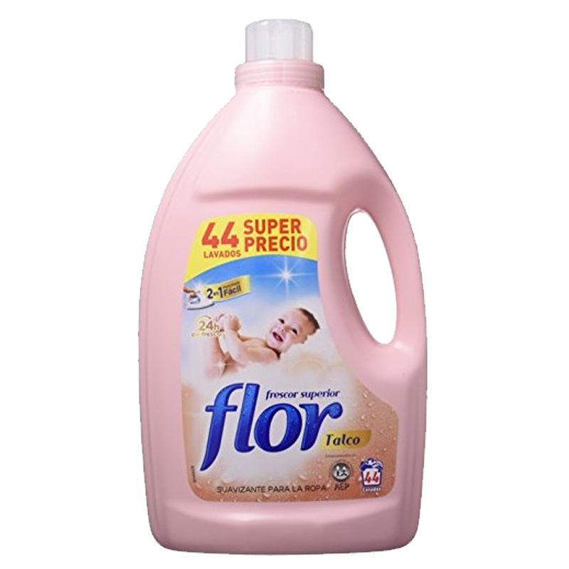 Flor Talco 44 Wash Fabric Softener - 2 in 1 Easy Ironing 2.2L