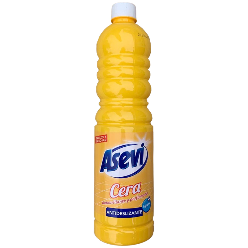 Asevi Yellow Floor Cleaner Citrus with Self-Shine 1 Litre - Non-Slip