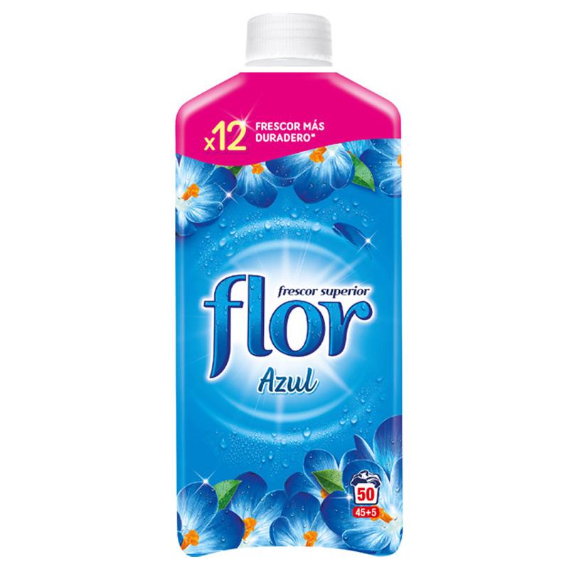 Flor Fabric Conditioner 1.1L 45+5 Wash - Azul