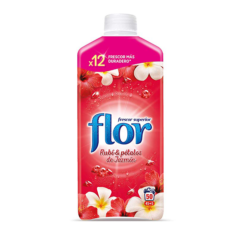 Flor Fabric Conditioner 1.1L 45+5 Wash - Ruby & Jazmin Petals